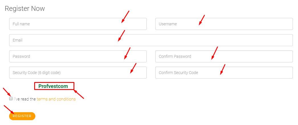 Регистрация в TheBitProfit 2