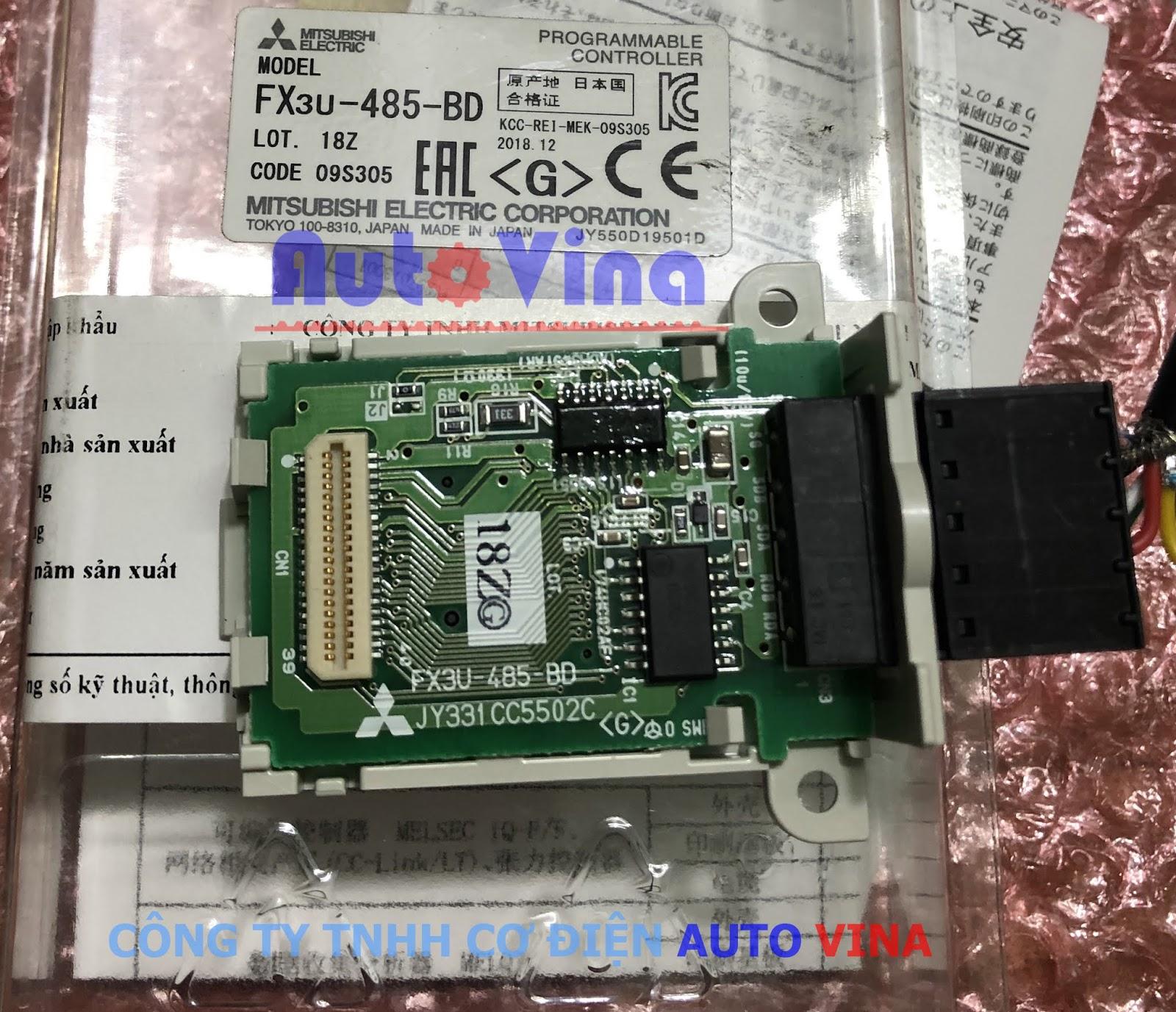 RS-485 communication expansion board FX3U-485-BD mở rộng cổng truyền thông cho PLC Mitsubishi