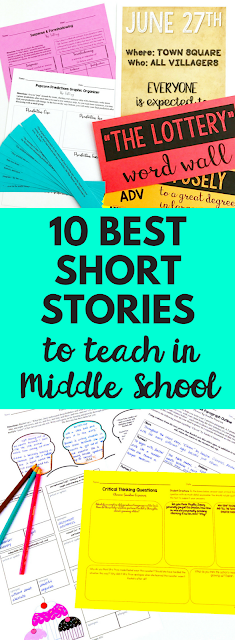Top ten short stories to teach to and read with your middle school English language arts class! They are engaging, challenging, and accessible to all students! Definitely a must read blog post!