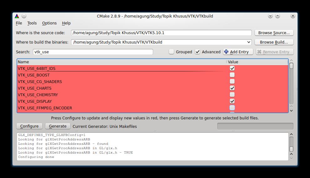 Qt + VTK] Install VTK with Qt Integration using CMake-GUI (Linux