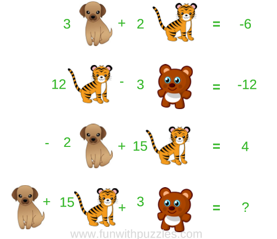 Math Picture Puzzle Animals