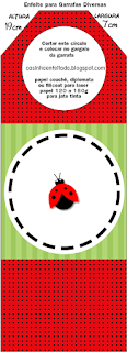 Ladybugs Free Printable Tags.