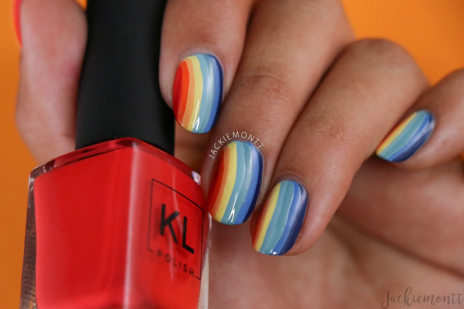 Rainbow Layered Nail Art Jackiemontt