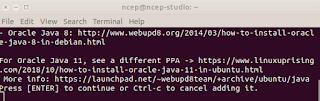 kunci PPA ke Ubuntu JDK8