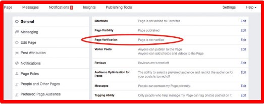 how to get facebook page verified badge
