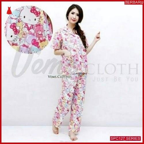 SPC127P33 Piyama Pajamas Terbaru Kitty Baju Tidur Wanita | BMGShop