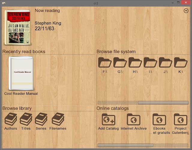 CoolReader v3.3.61 - Lector de eBooks para ordenador, rápido, compacto y portable