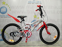 Sepeda BMX Family Champion Suspension 20 Inci Silver Red