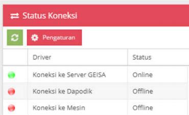gambar status koneksi aplikais geisa online