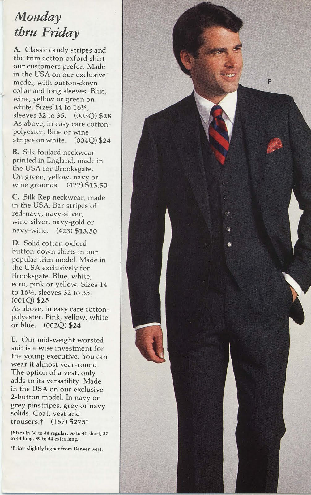the trad selling suits