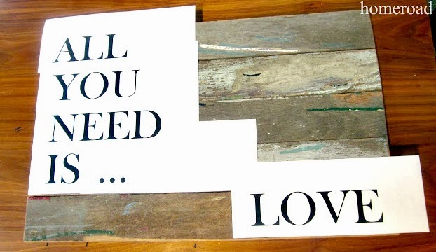 All you need is love pallet art www.homeroad.net