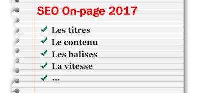 Seo on-page nouveautés 2017