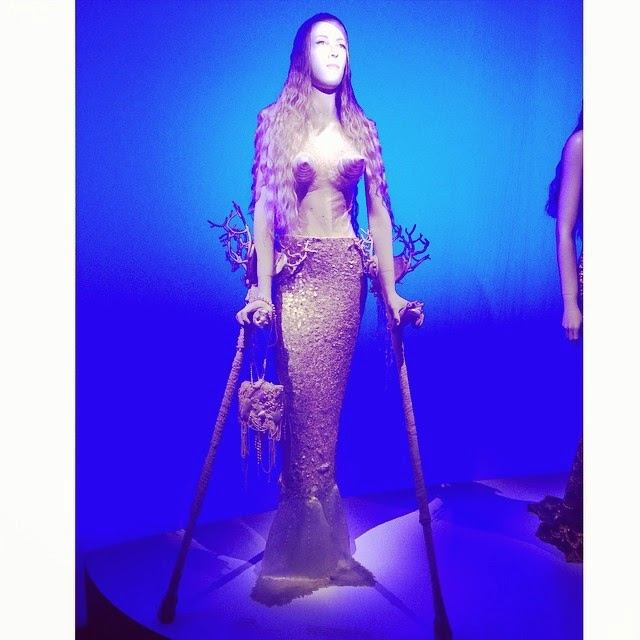 Mermaid mannequin at John Paul Gaultier exhibition, Melbourne