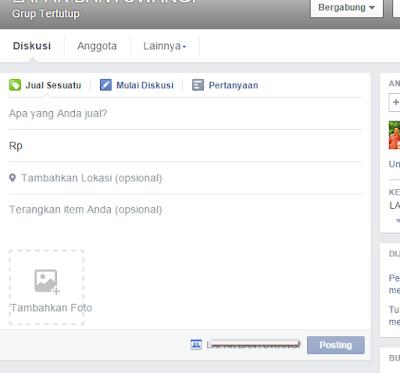 Cara menambahkan fitur Jual-Beli di Grup Facebook.