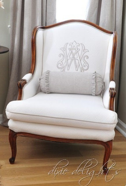 The Glam Pad Design Trend Monogrammed Chairs