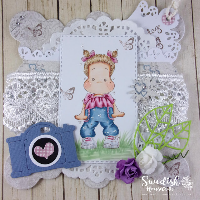 Sweet Pants Tilda - birthday card | By Laurigami