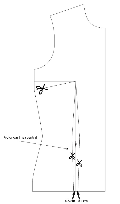 Alfileres sangrantes: Modificacion de pinza en blusa basica
