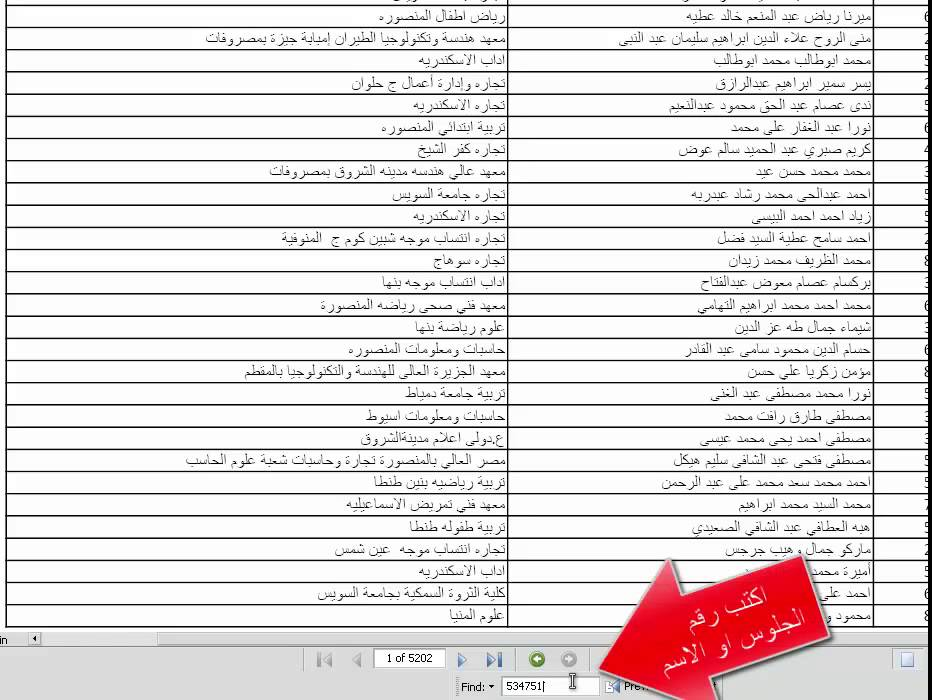 بوابة الحكومة المصرية نتيجة تنسيق المرحلة الثالثة للثانوية