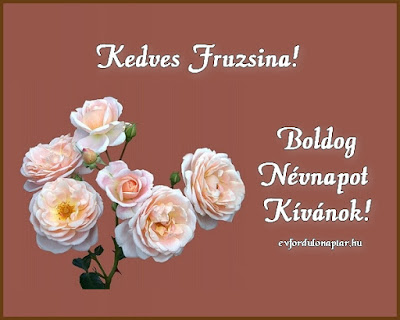 Fruzsina névnap