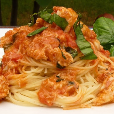 crab meat spaghetti