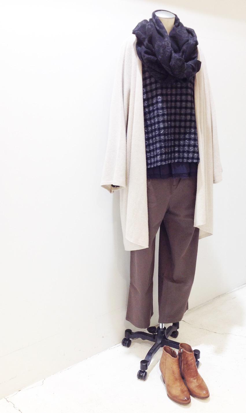 pas de calais【パドカレ】ドビーギンガムブラウス◆香川・綾川店