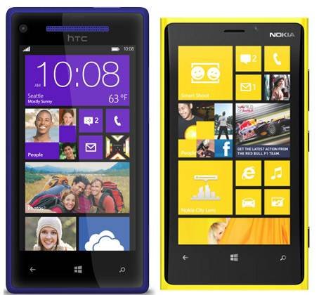 Nokia Lumia 920 e o Windows Phone 8X, da HTC