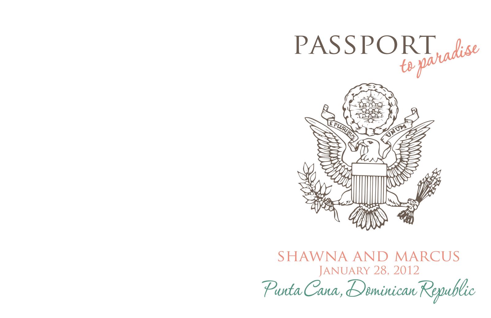 Passport invite: 4.25 x 5.5 when folded:
