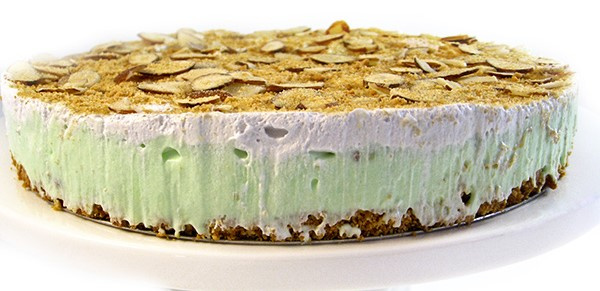 Skinny Pistachio Almond Pudding Pie