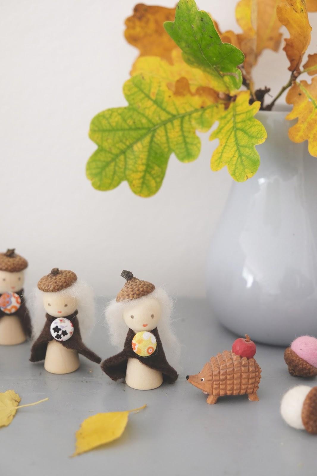 Hej Hanse Basteln Mit Kindern Herbstwichtel Für Den Jahreszeitentisch