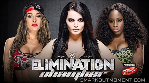 WWE Elimination Chamber Nikki Bella vs Paige vs Naomi
