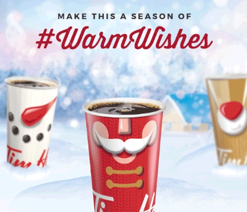 Tim Hortons Warm Wishes Win $5000 Holiday Contest