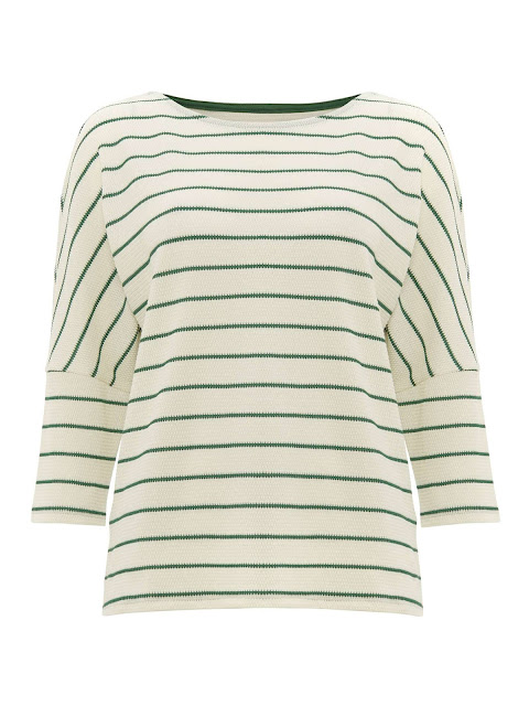 Phase Eight Trish Textured Stripe Top