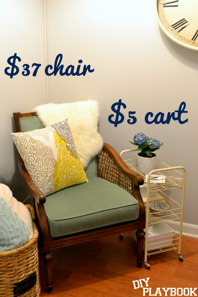 $37 chair and $5 cart