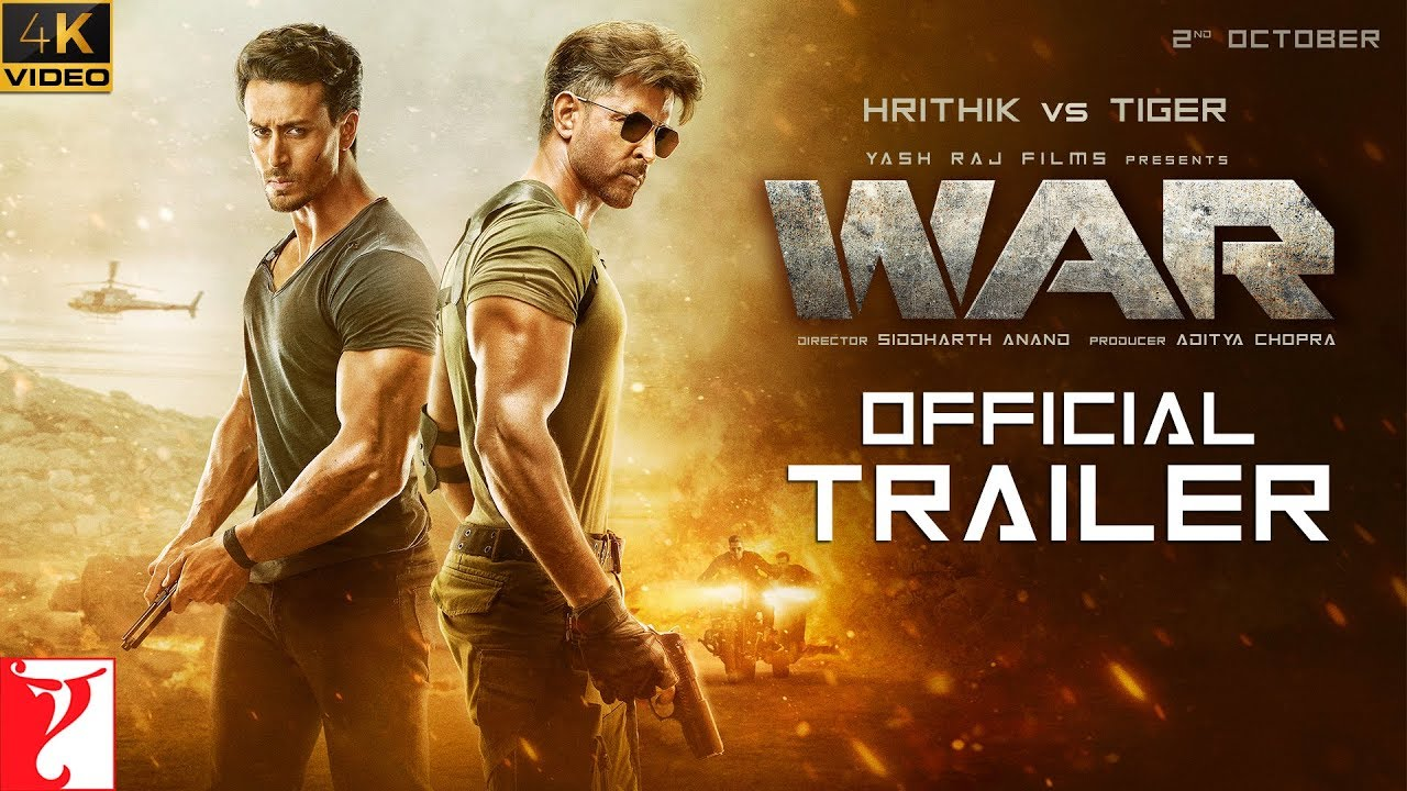 Watch & Download : War (Official Trailer)  | Hrithik Roshan | Tiger Shroff