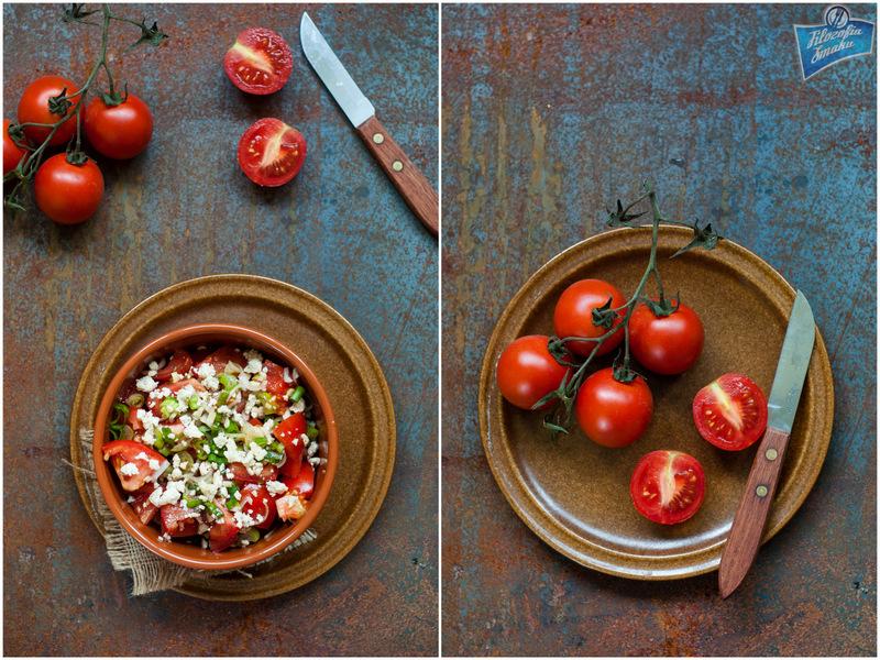 Arabska sałatka z pomidorów i sera