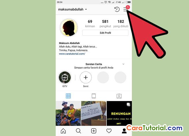 cara melihat fotodan video yang pernah kita like di instagram