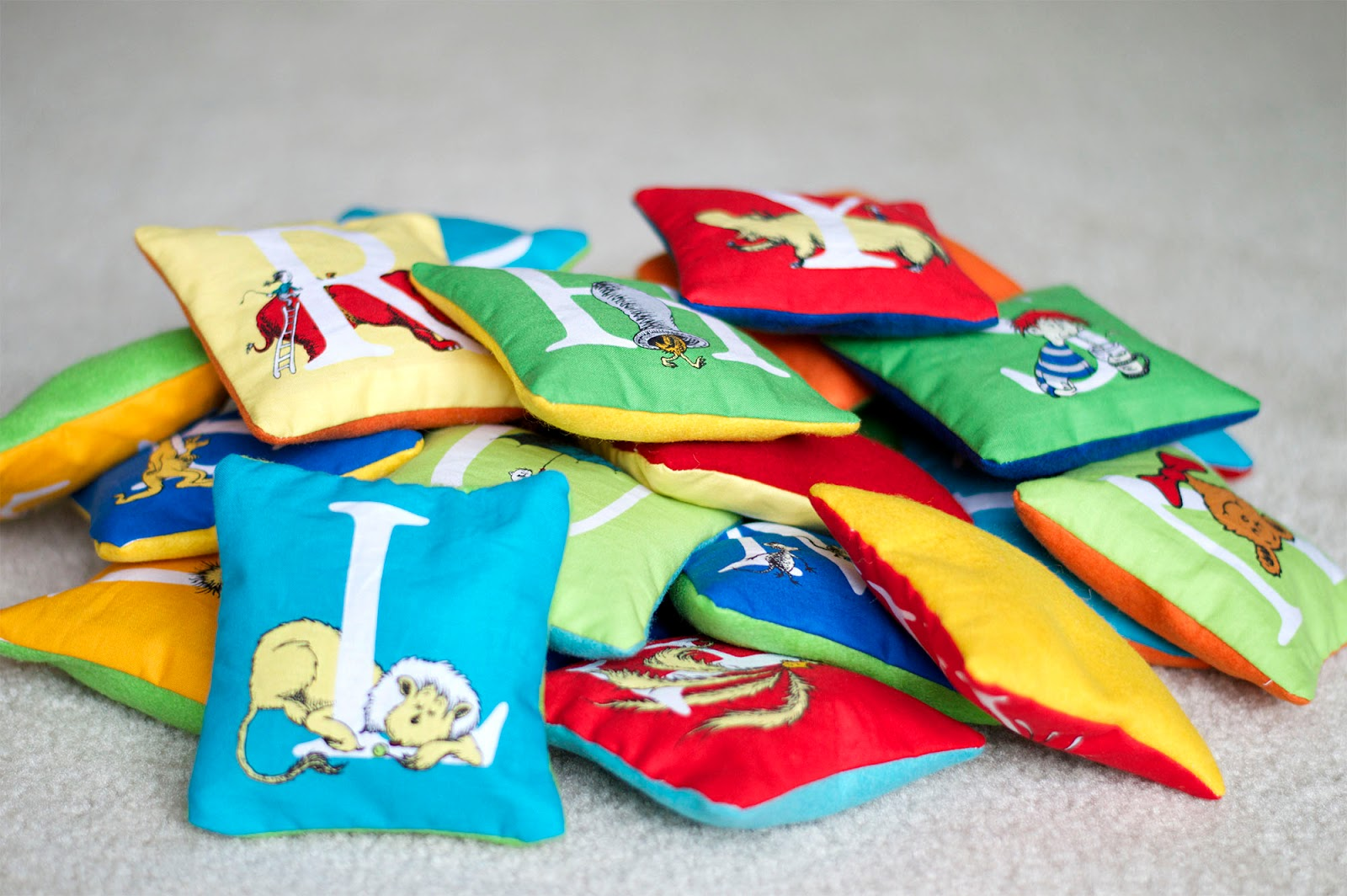 Dr. Seuss Pillow Letters
