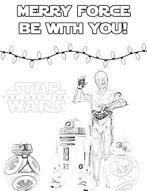 Star Wars Christmas Free Coloring Page - Droids - Holidays - Hanukkah