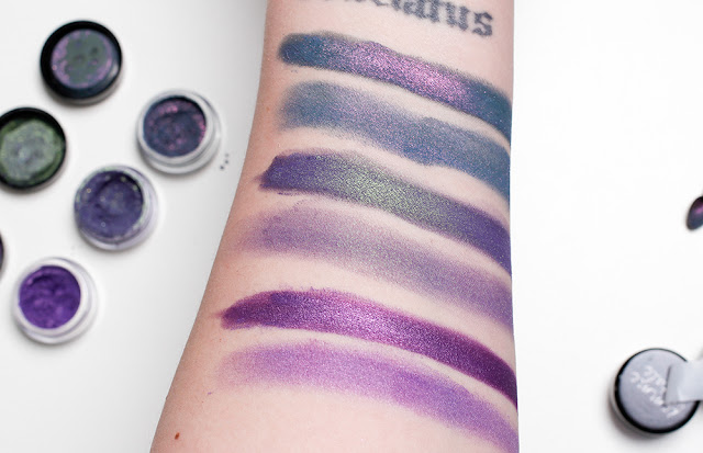 Exorcism, The Nightmare and Nexus swatches in studio