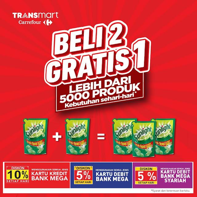 #Transmart #Carrefour - #Promo Beli 2 Gratis 1 Kebutuhan Sehari-hari (s.d 31 Maret 2019)