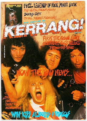 Kerrang! cover - Oct 17 1987 ft. spoof heavy metal band Bad News