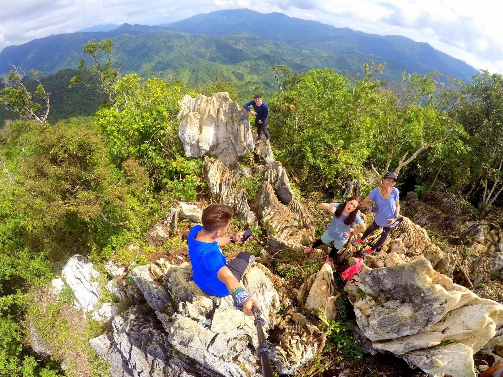 Jagged Yet Magnificent Limestones on Mt. Daraitan Summit
