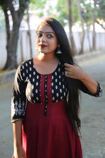 Varsha Stills in Salwar Kameez at Vetrivel Movie Team Interview