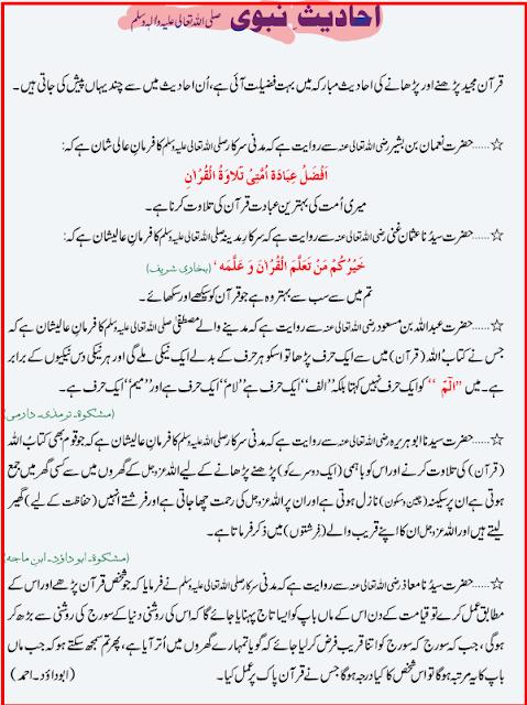 Quran Parhne Ki Fazilat