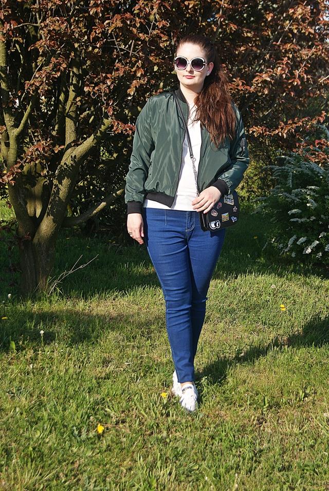 ea0ad544 33 - Stylizacja z kurtką bomberką (bomber jacket) - hit blogerek ...