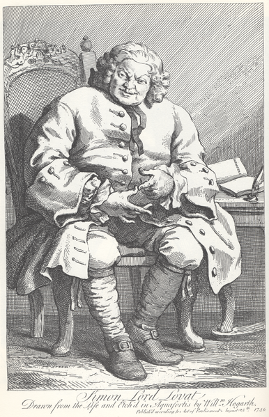 Simon Fraser, Lord Lovat by William Hogarth