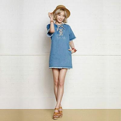 Steal Her Look: Taeyeon's Little Denim Dress