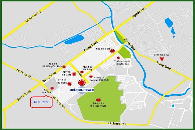 Bản đồ vị trí dự án Lacasta Tower