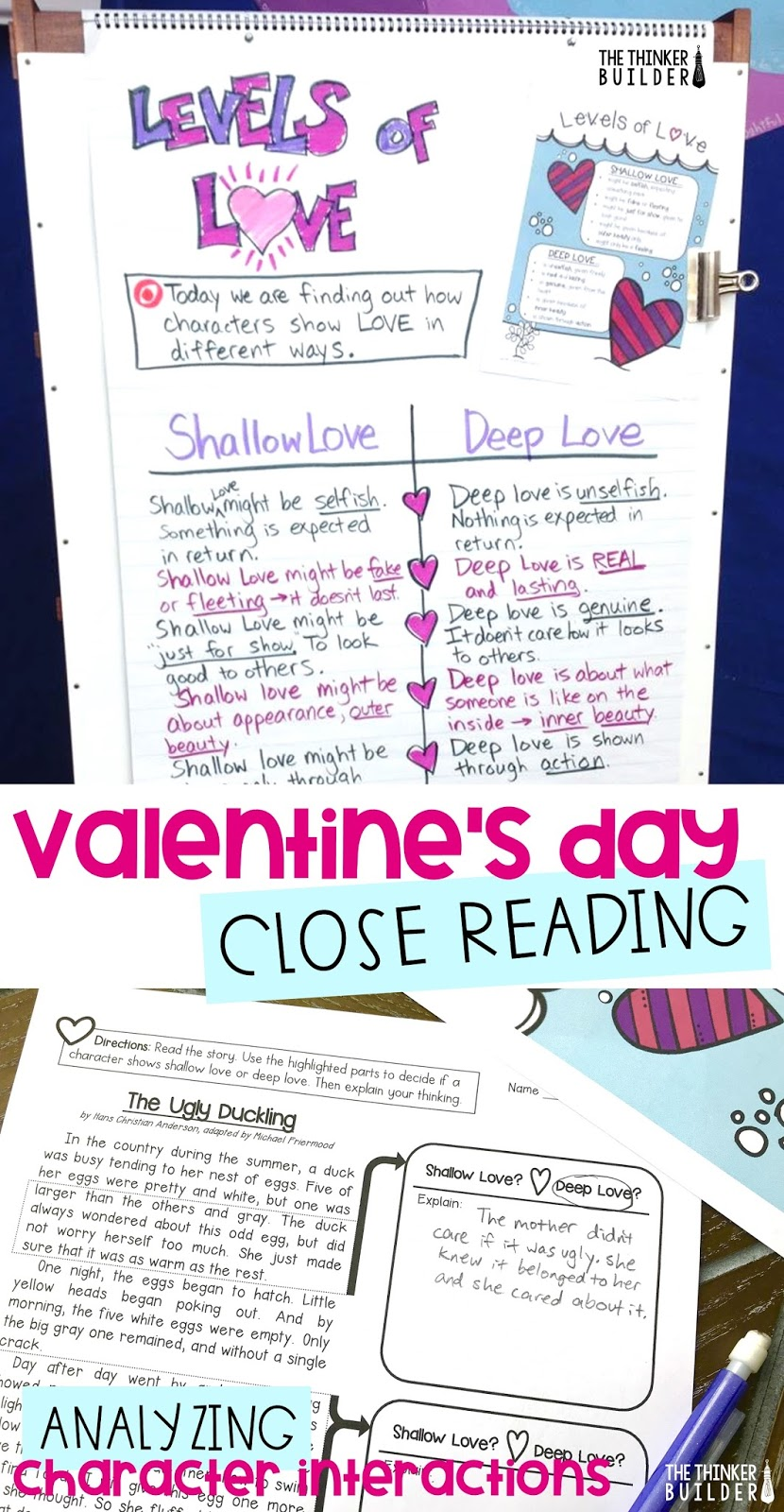 Levels Of Love Valentines Day Close Reading