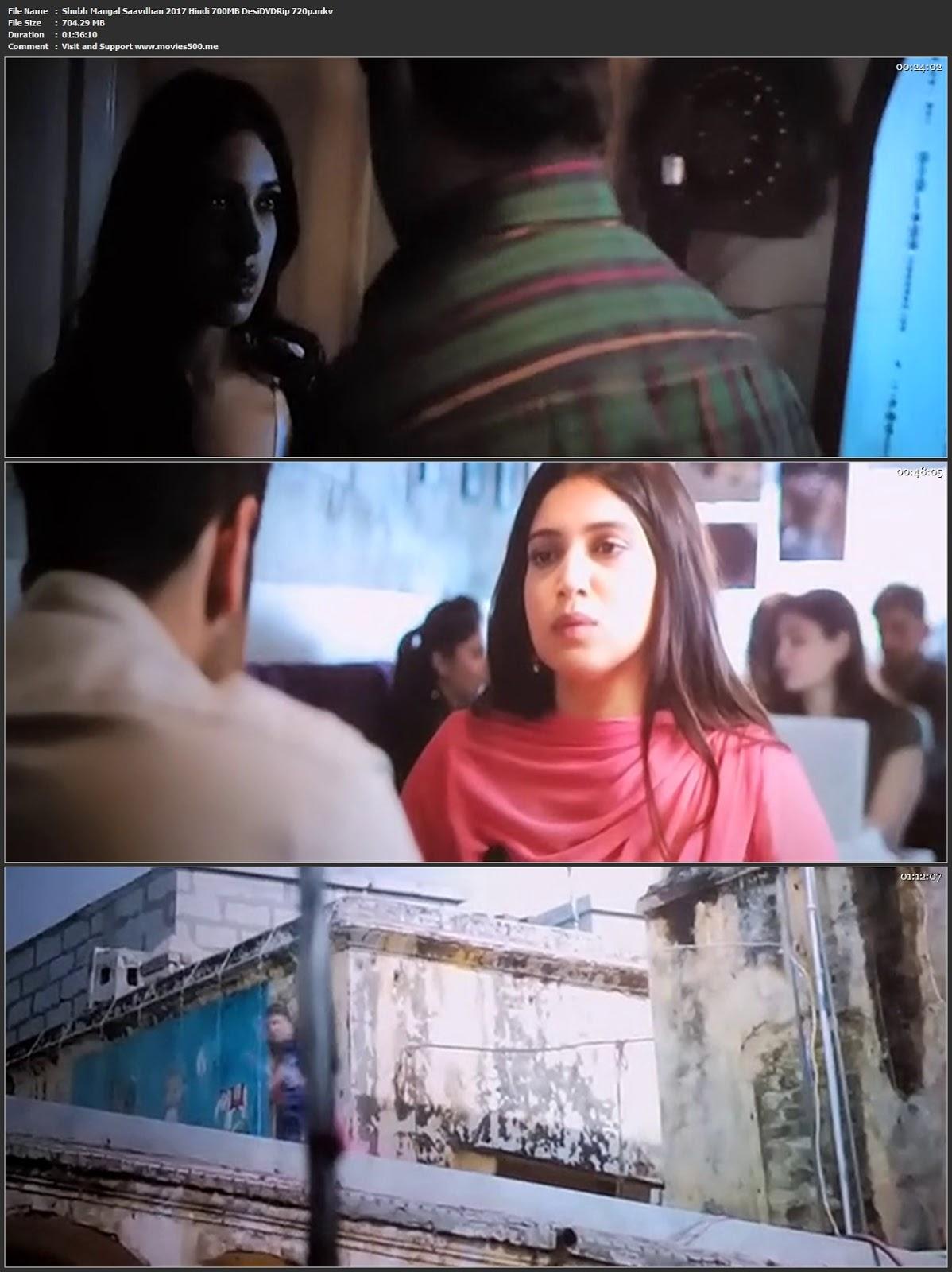 Shubh Mangal Saavdhan 2017 Hindi Movie Desi DVDRip 720p at movies500.site